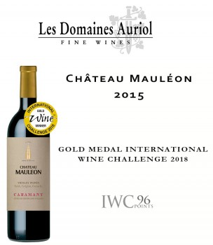 Château Mauléon 2015 Gold Medal International Wine Challenge IWC 2018